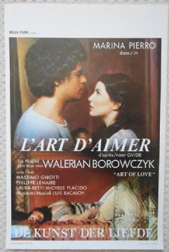 Art of Love, L'Art D'Aimer, Orig Belgian Movie Poster, Walerian Borowczwk, '83